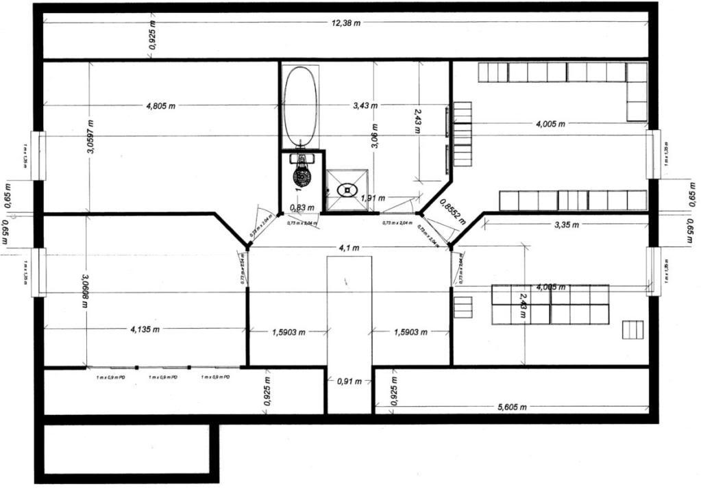 plan d une villa moderne le monde de l a. Black Bedroom Furniture Sets. Home Design Ideas