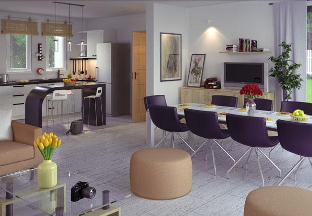 model de maison moderne interieur idee deco maison moderne couleur ...