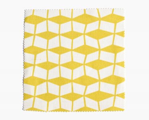 rideau scandinave jaune le monde de l a. Black Bedroom Furniture Sets. Home Design Ideas