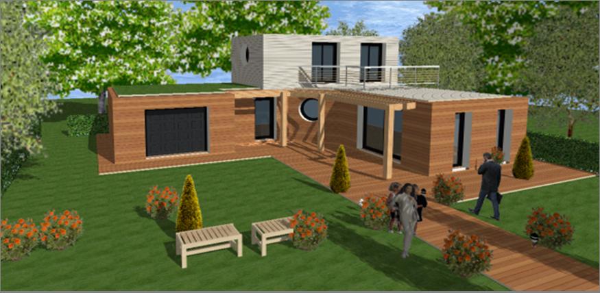 Prix d une maison contemporaine toit plat le monde de l a for Le prix des maisons
