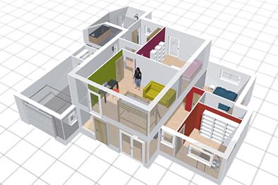 construire sa maison en 3d le monde de l a. Black Bedroom Furniture Sets. Home Design Ideas